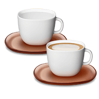 Набор чашек LUME Cappuccino