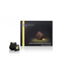 Темный шоколад с кусочками имбиря